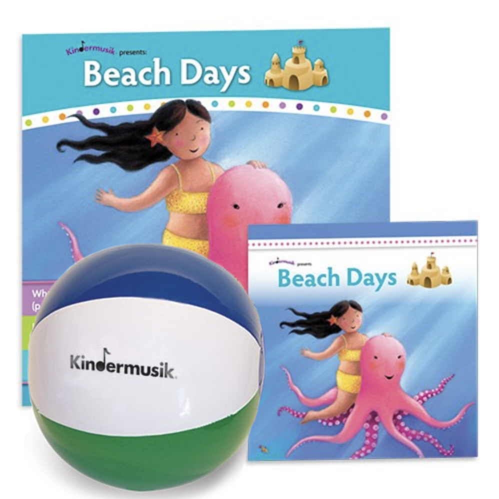 "Beach Days is the Level 2 unit ages 2 and 3.  ""Grab your beach ball and put on your sunscreen - Beach Days are here!  We'll sing, dance and play instruments as we explore the sights and sounds found at the beach.  Get ready to wiggle your toes in the sand, scuttle like a crab, and listen to the surf rolling in.  This unit is full of sun, fun, and play!"