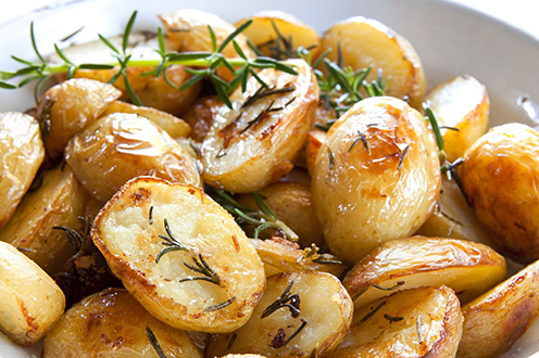Complementary Items - Prepared side dishes that pair with our gourmet meats, like ready to heat and eat potatoes, pasta dishes, side vegetables, sauces and seasoned preparations.