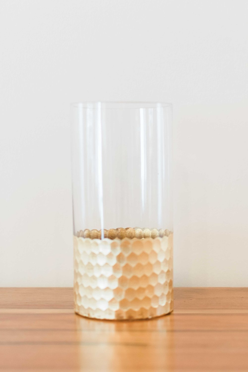 Glass With Gold Bottom (Tall)  Quantity: 1