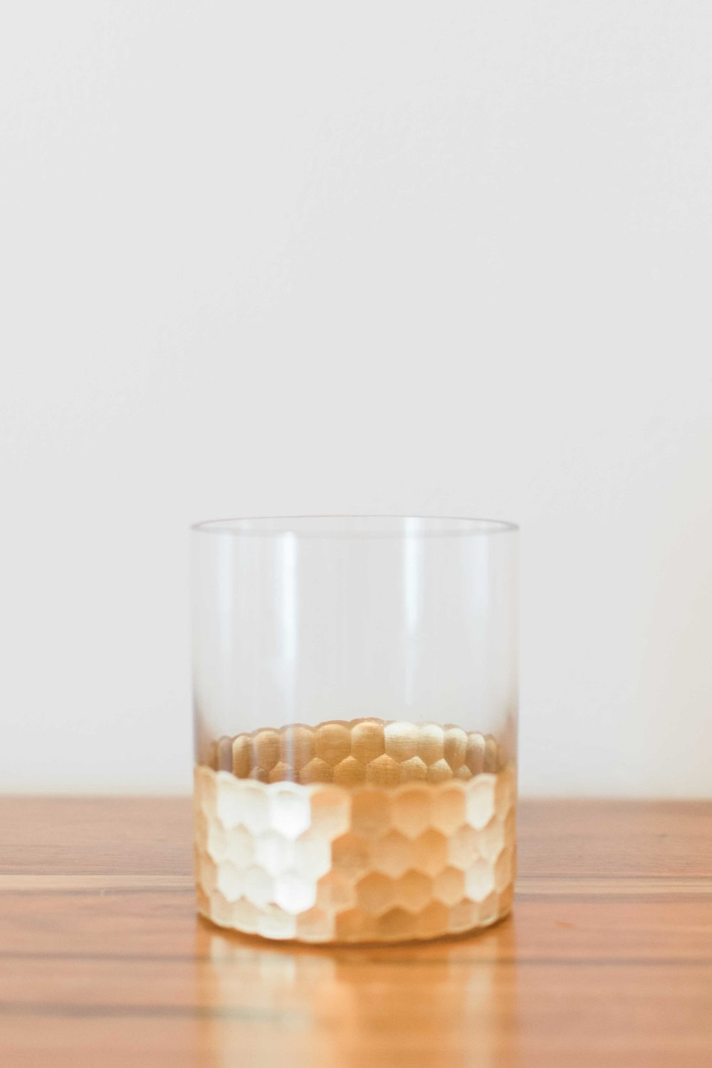 Glass With Gold Bottom (Small)