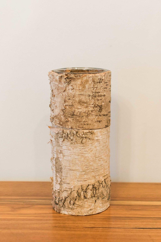 Barked Vases  Quantity: 12