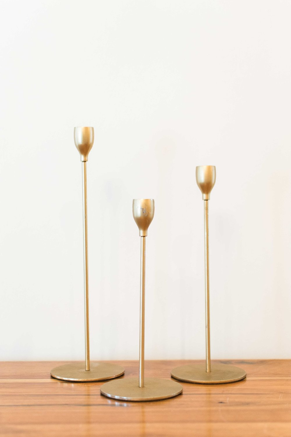 Skinny Gold Candle Holder