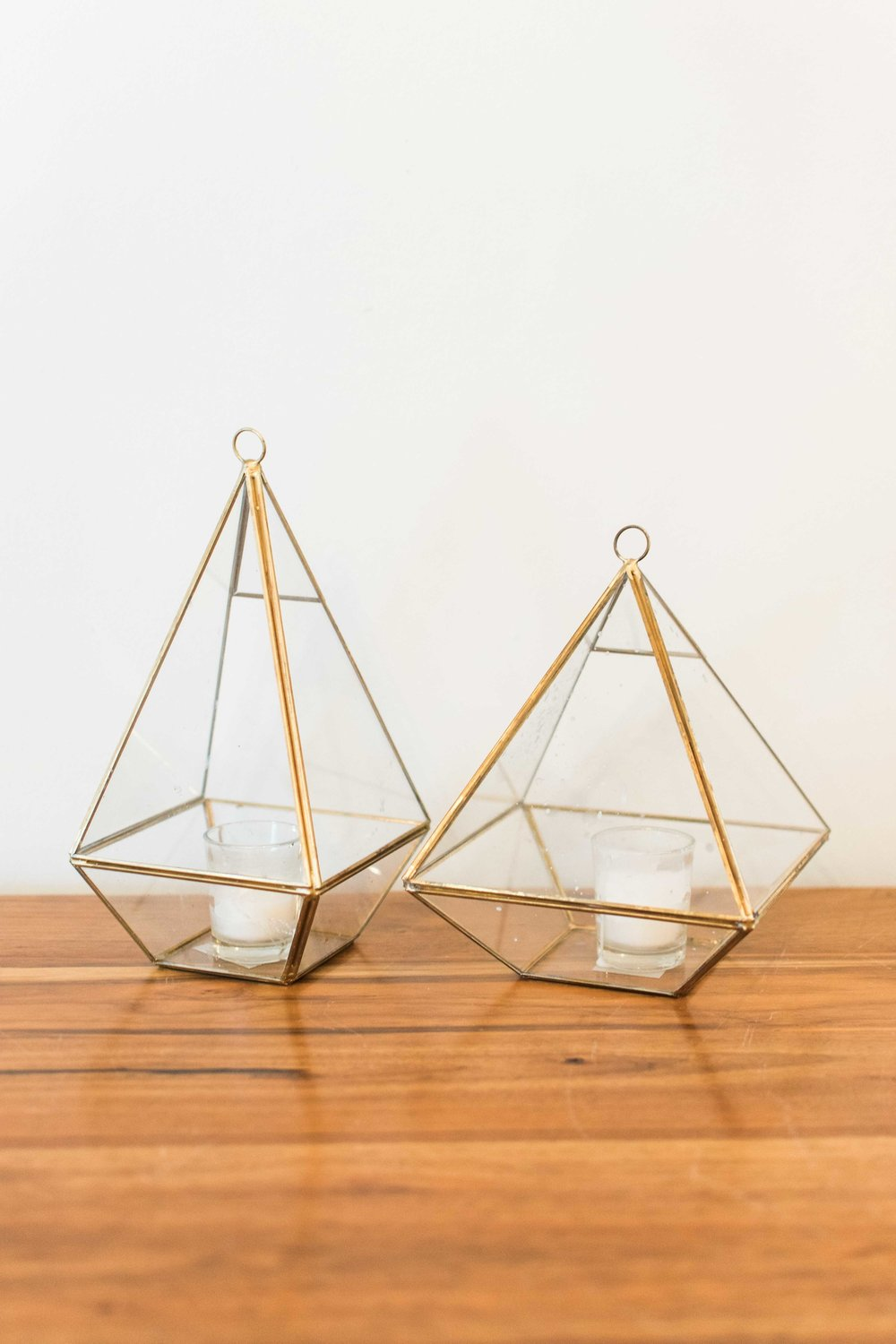 Triangle with Glass