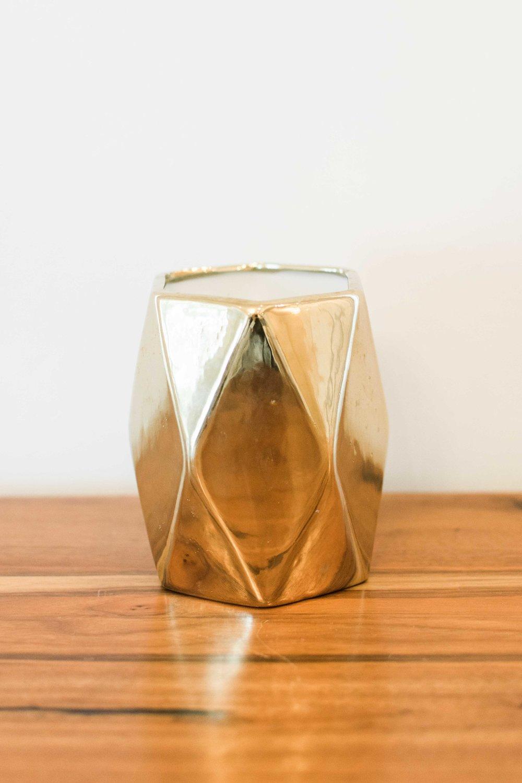 Gold Geometric Vase  Quantity: 8