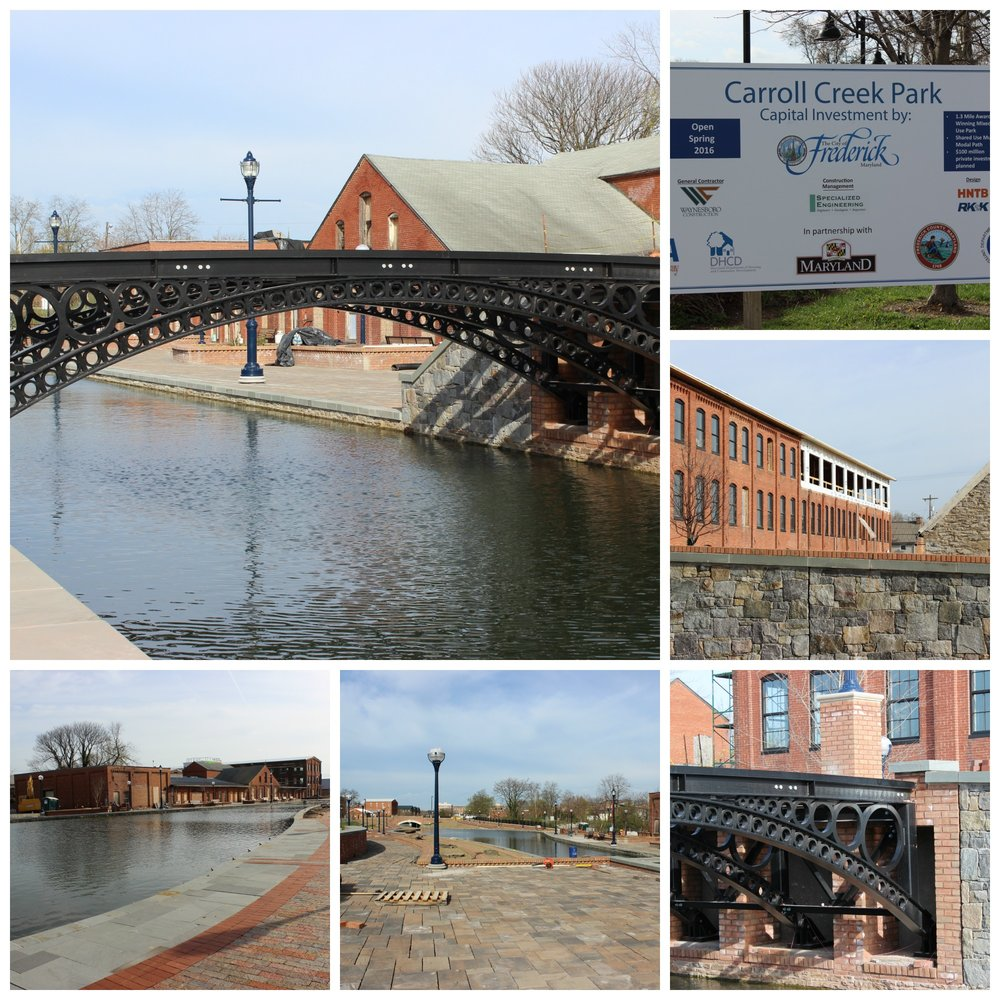 Carroll Creek Park, recipient of grant funds from DHCD