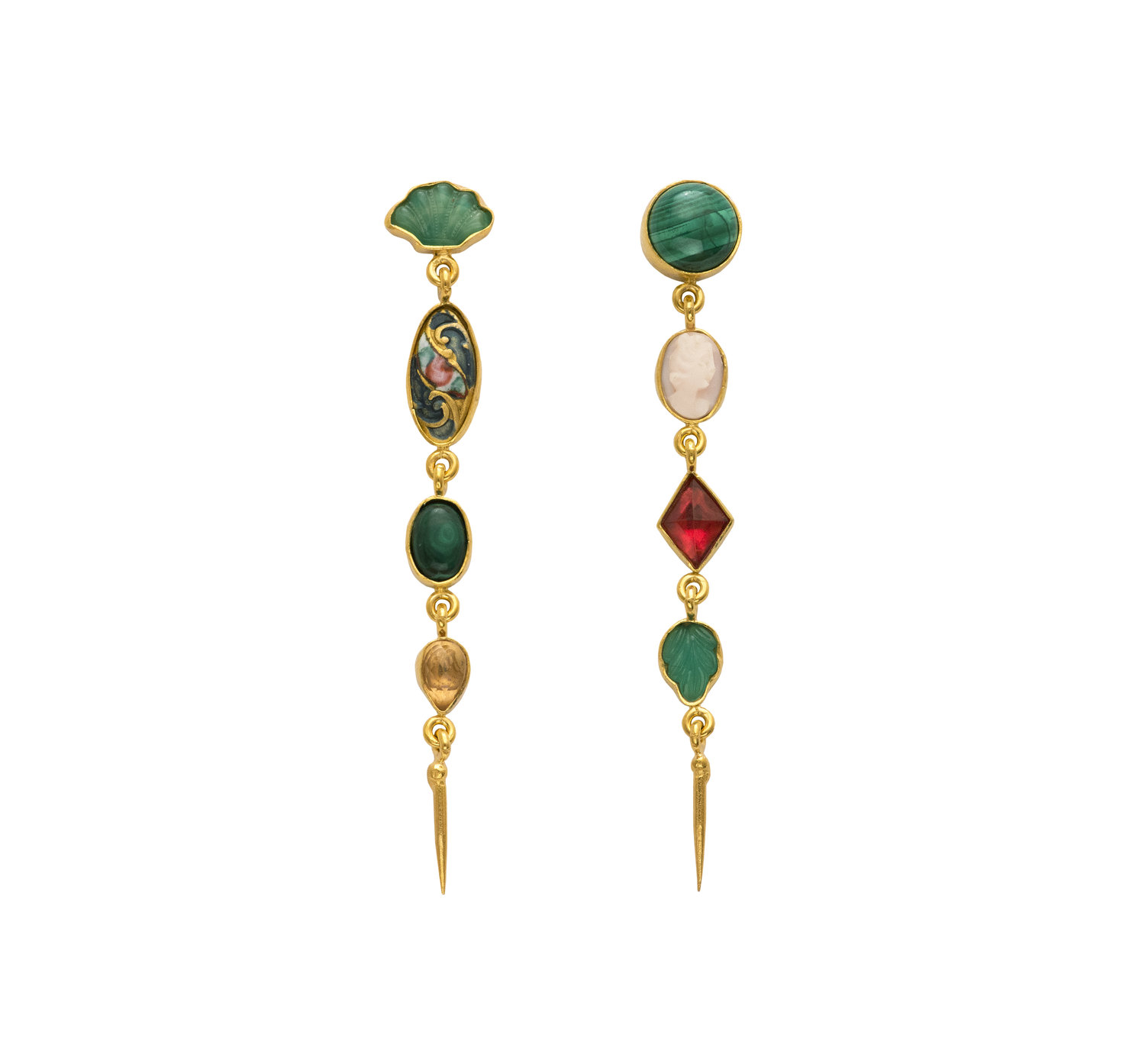 9608b5ced EARRINGS: 4 x CHARM WITH VICTORIAN DROPS