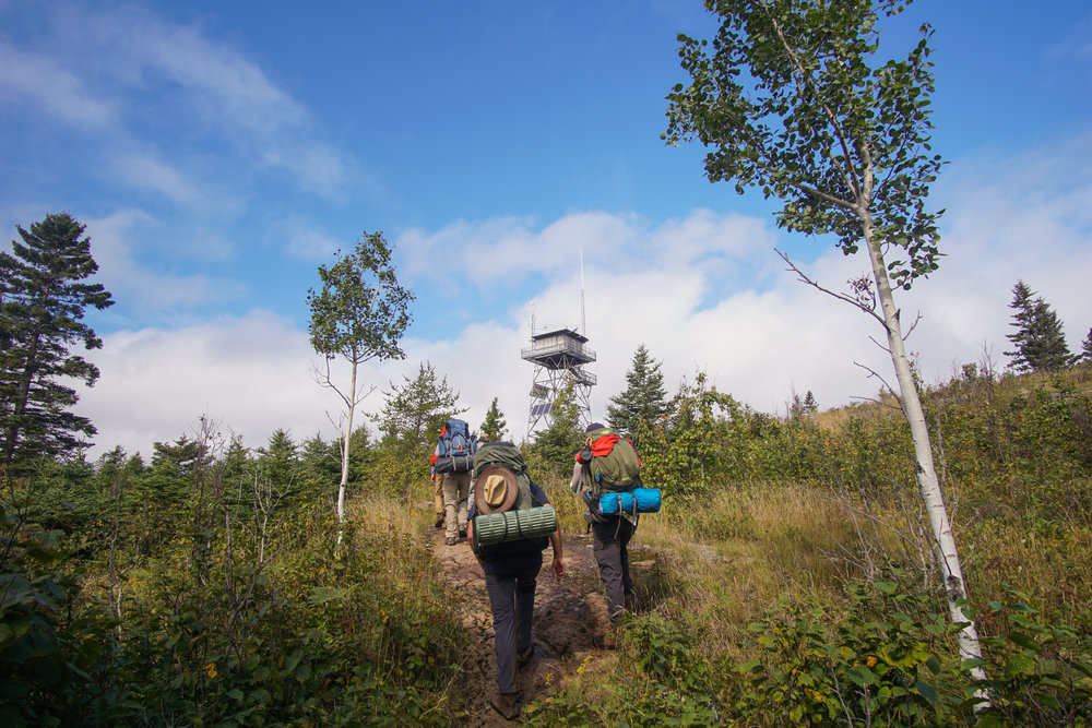 Hiking up to the Ojibwa tower