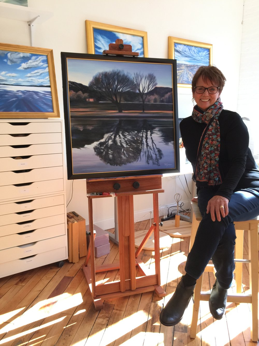 Virginia in her New England studio.