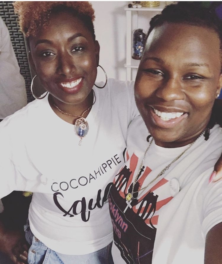 Owner of Cocoa Hippie Nail Bar-Danyette M. Ashley and Founder/Head Chef of Brooklynn Catering-Alisha L. Owensford celebrating #OURBLACKISBEAUTIFUL #BlackOwnedBsuinessOwners