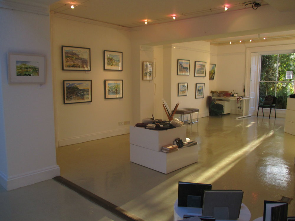 Afternoon light in the gallery