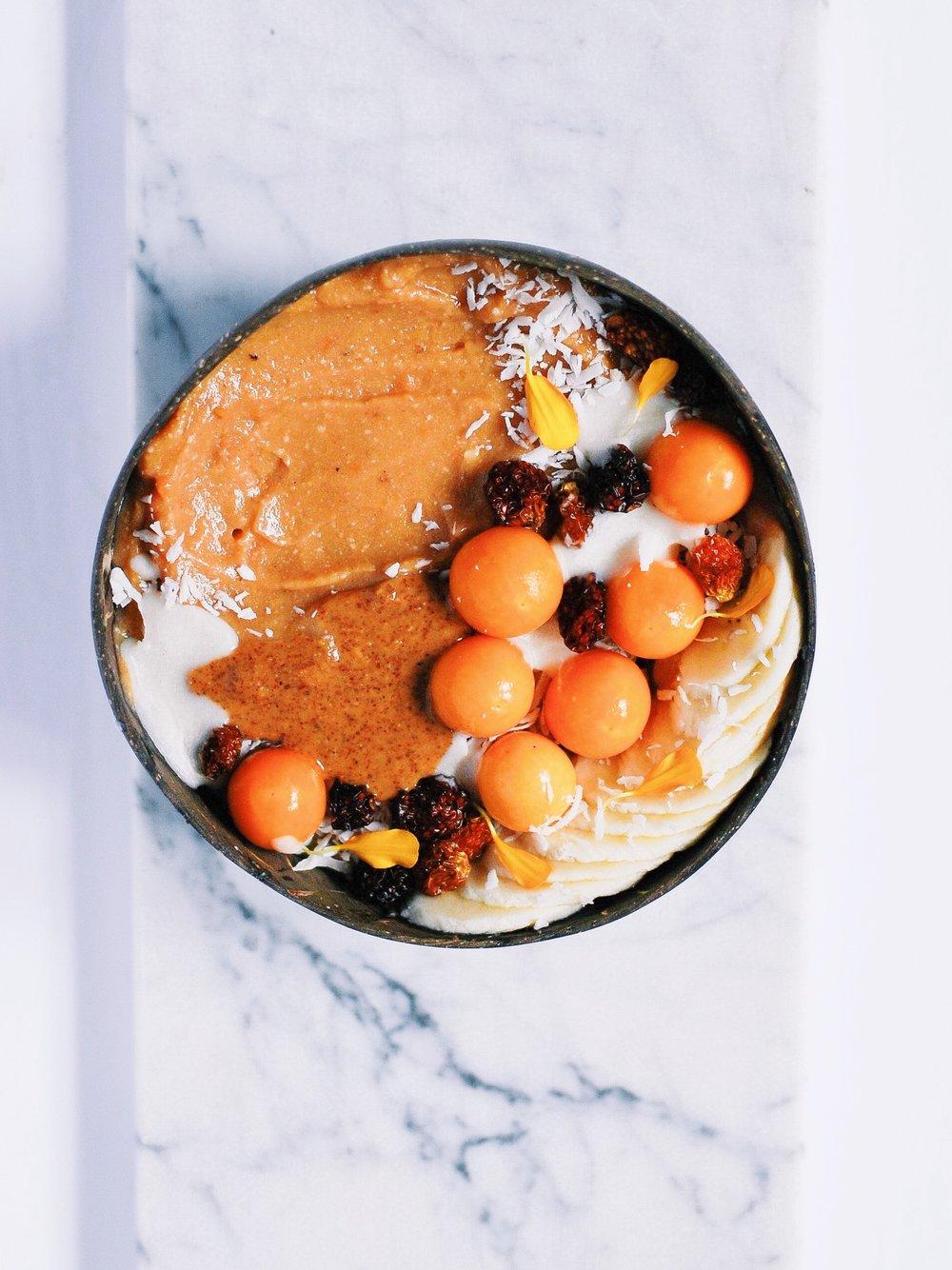 Sweet Potato Smoothie Bowl - Foody First