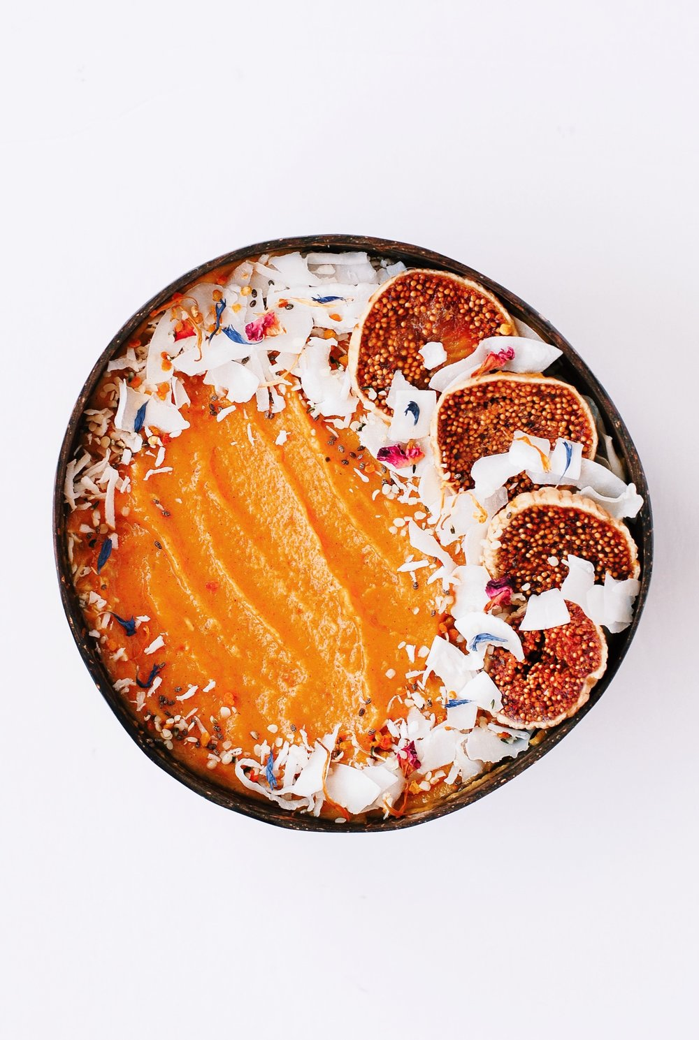 Sweet Potato Mango Smoothie Bowl - Foody First