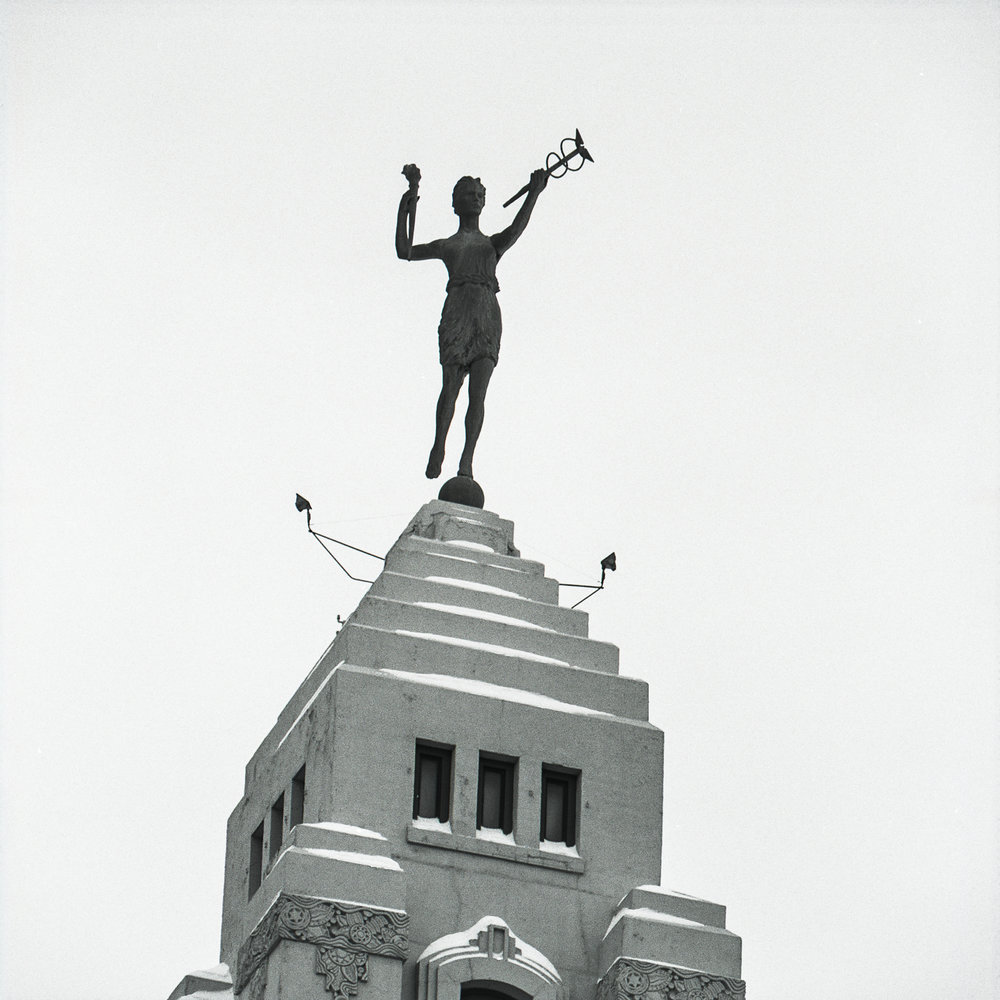 Spirit of Progress atop the Montgomery Ward Building ©2000