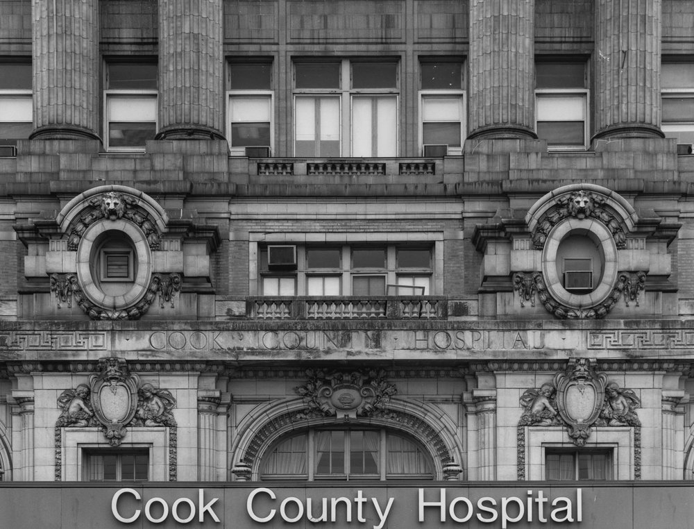 Cook County Hospital Signage ©2000