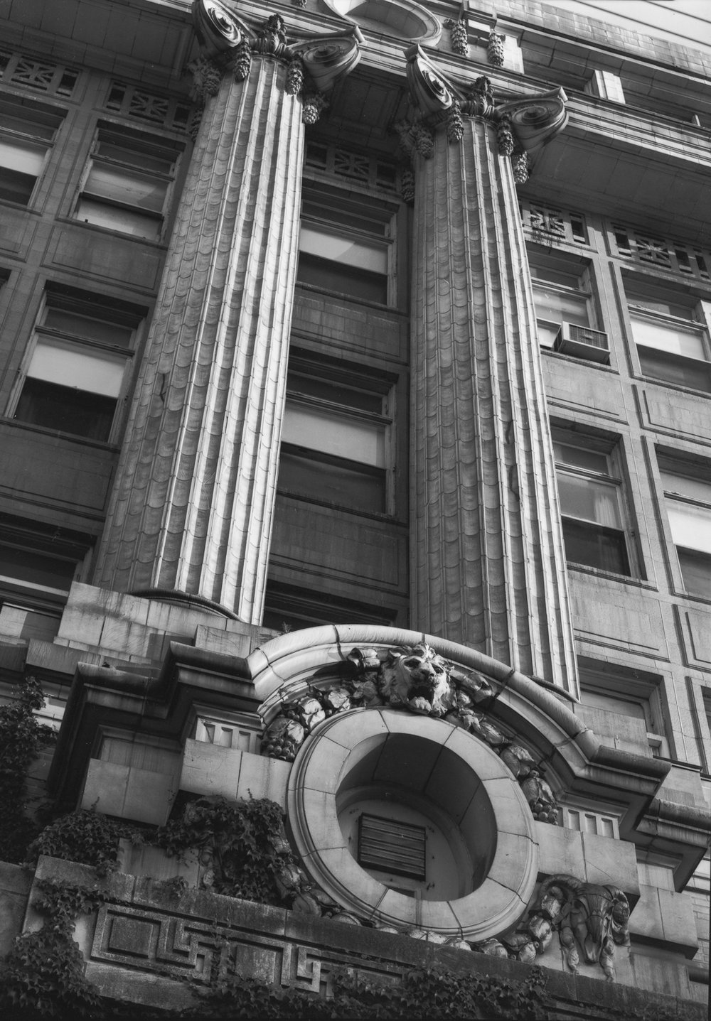 Cook County Hospital Columns at Entrance ©2000