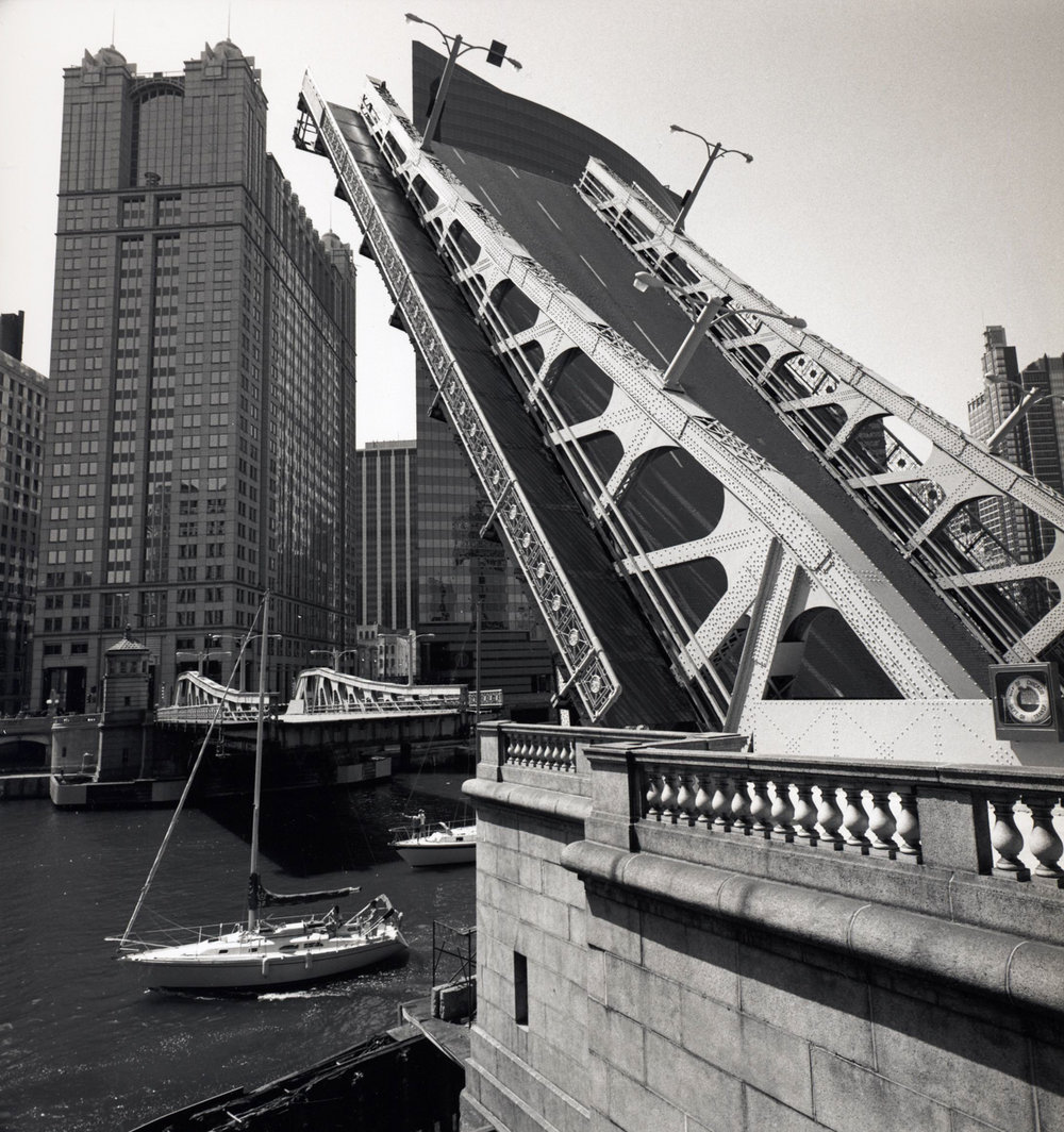 Bridge with Sailboats Chicago River