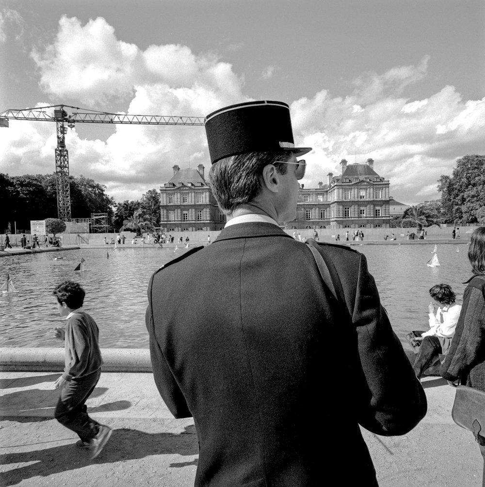 Policeman Luxembourg Garden Paris 1085