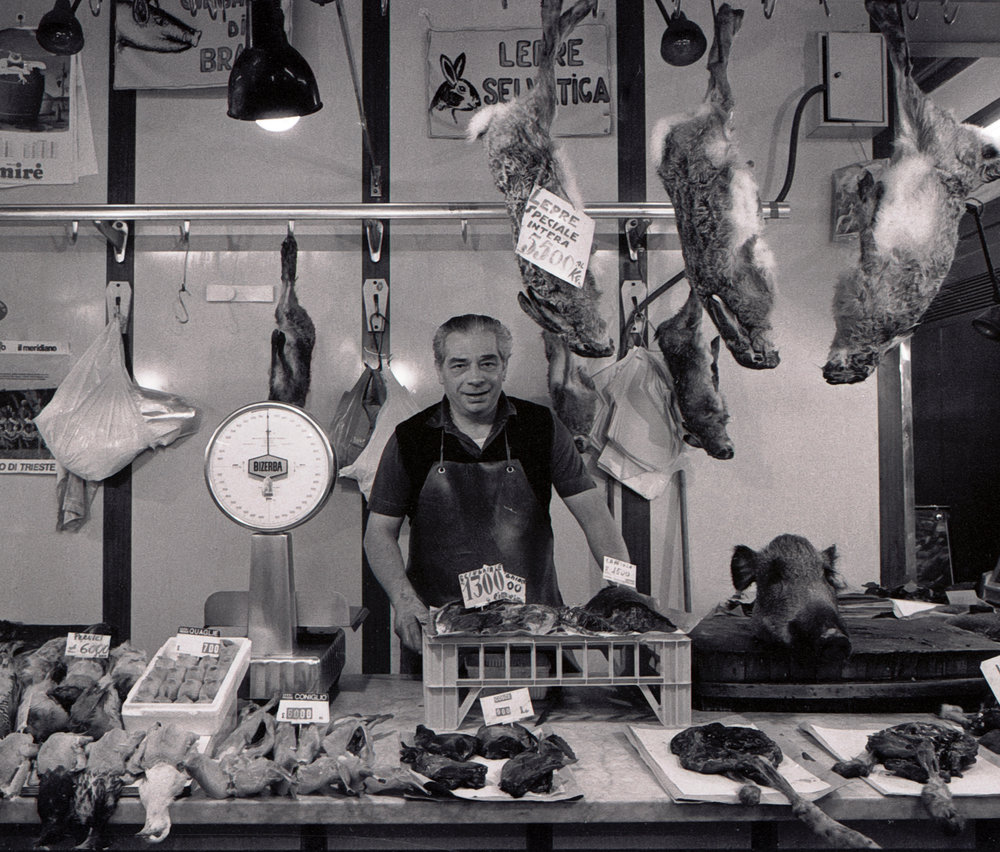 Wild Game Seller Mercato Centrale Florence 1983