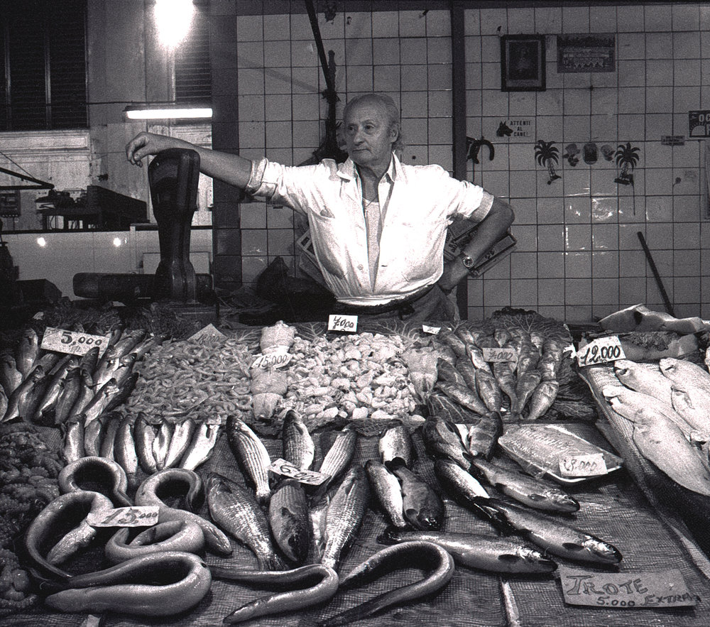 Fish Seller Mercato Centrale Florence 1983