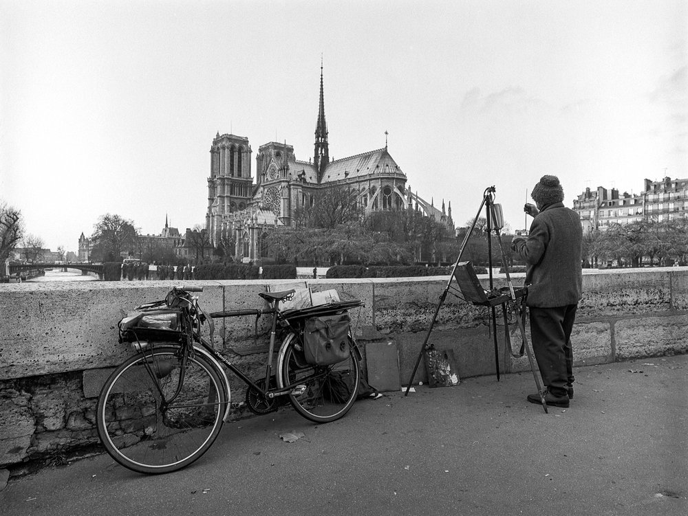 Itinerant Painter at Notre Dame Paris 1984