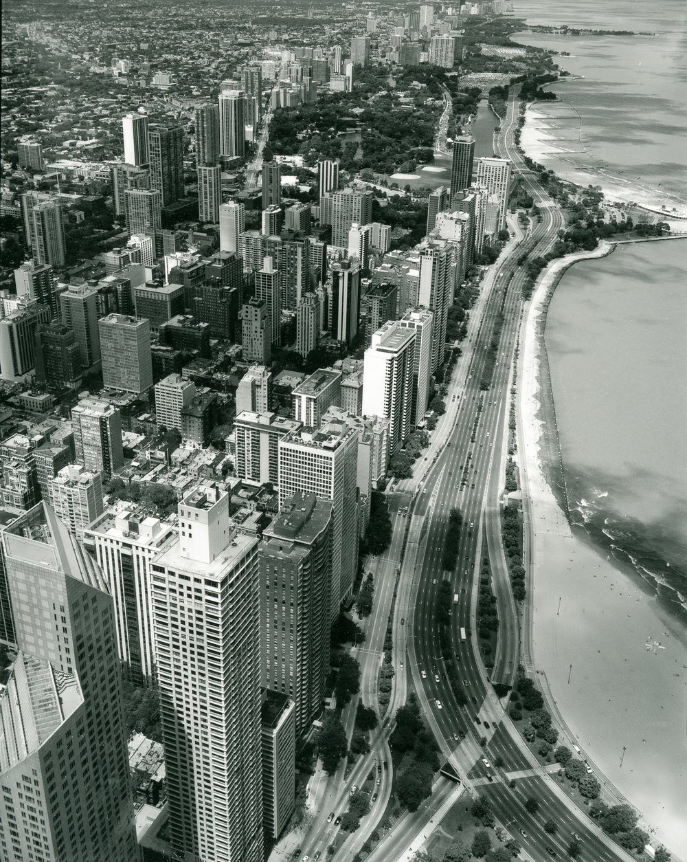 Lake Shore Drive North from Hancock Roof ©2000