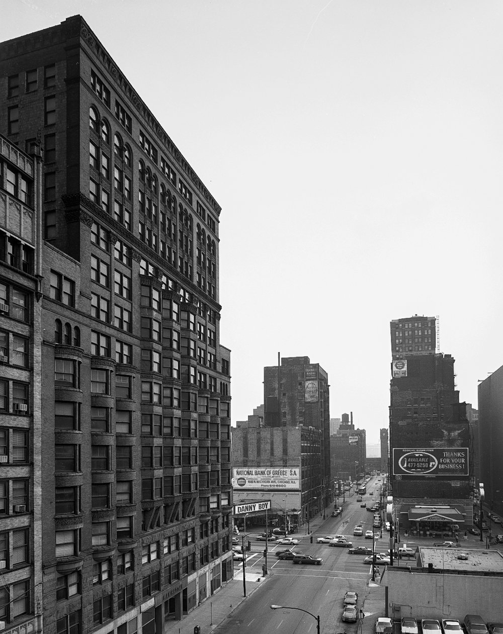 Manhattan Buiding Looking South Down Dearborn Street ©1980