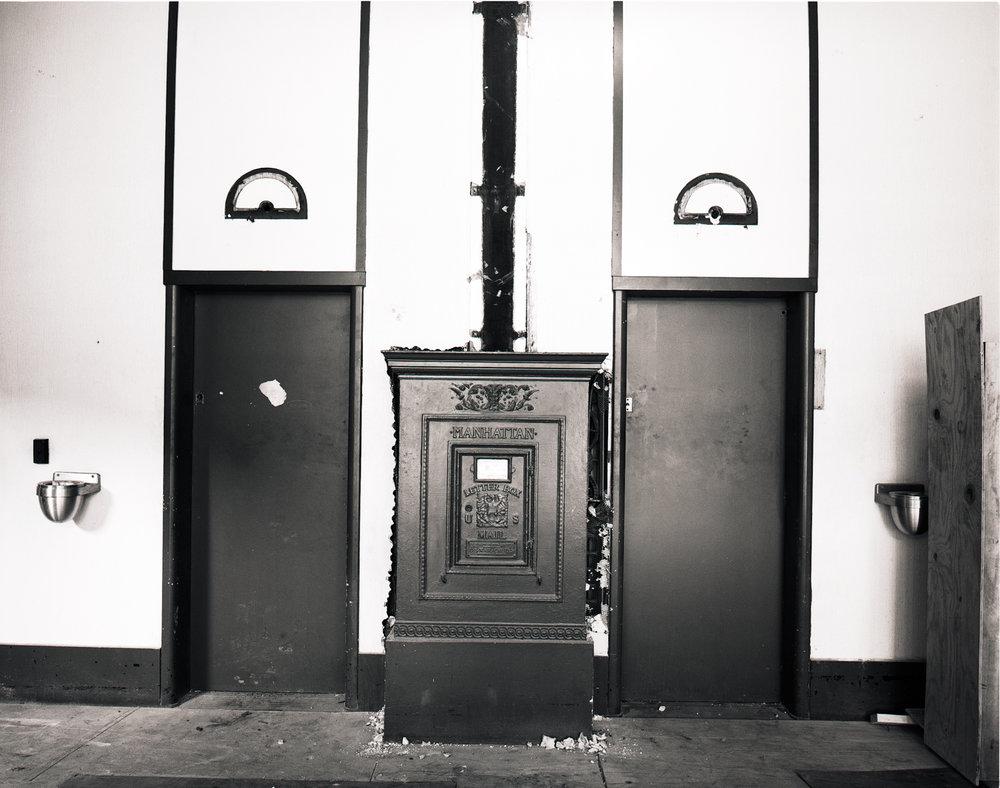 Elevators and Post Box Chute Manhattan ©1980