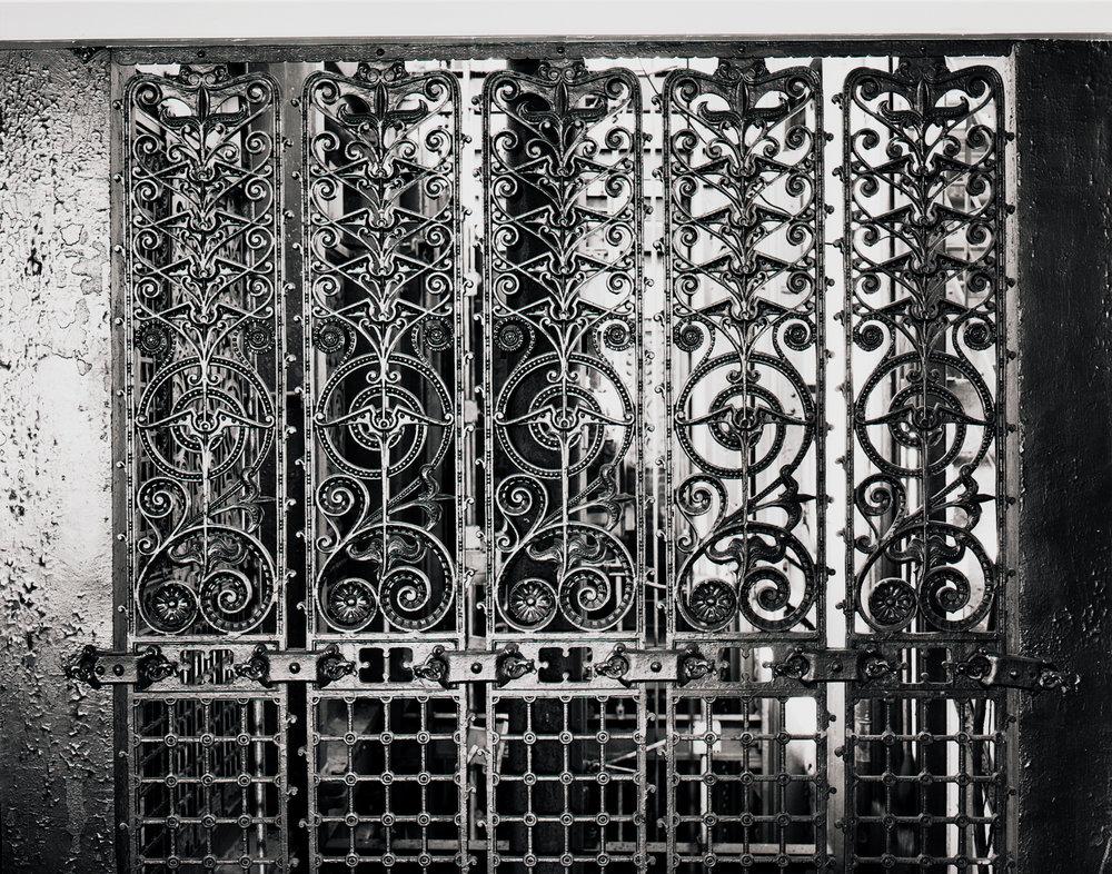 Decorative Elevator Ironwork Manhattan ©1980
