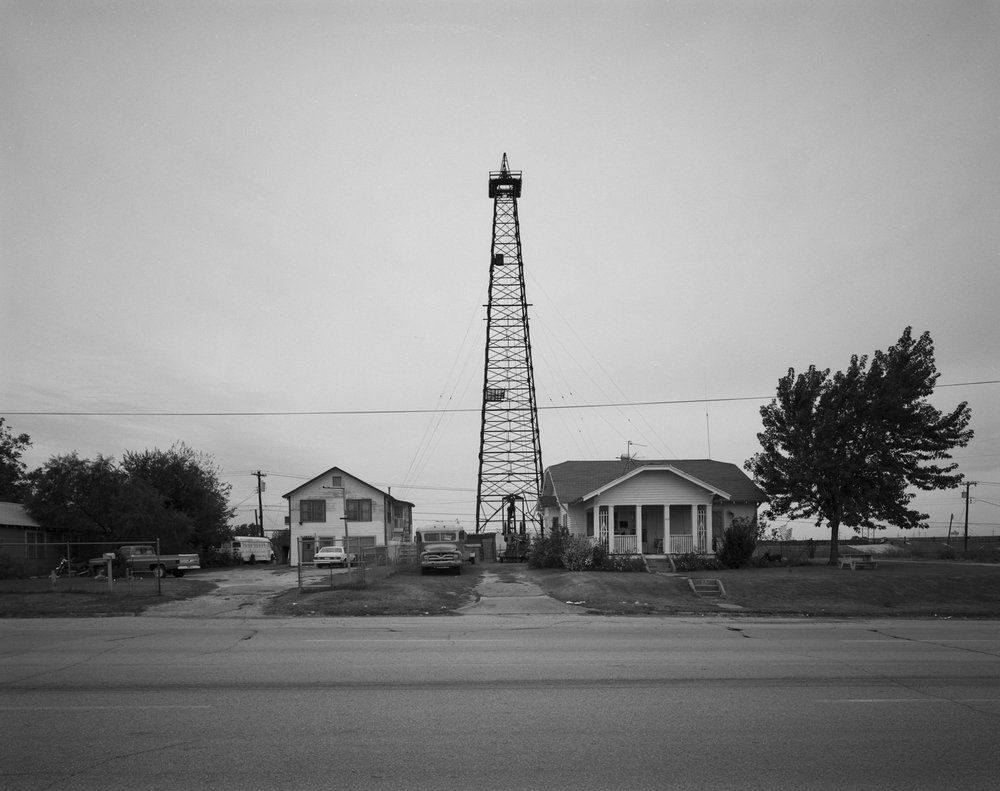 Oklahoma Houses with Oil Well and School Buses 1982