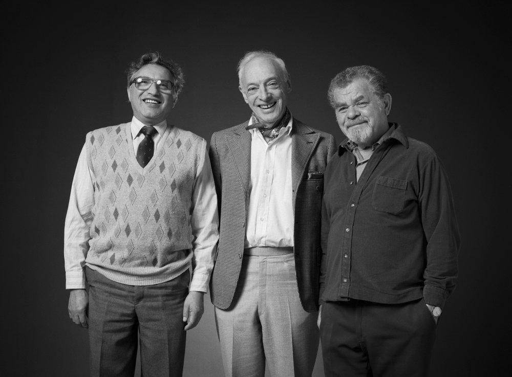 Wolf Baranov, Saul Bellow and Nathan Lerner 1987