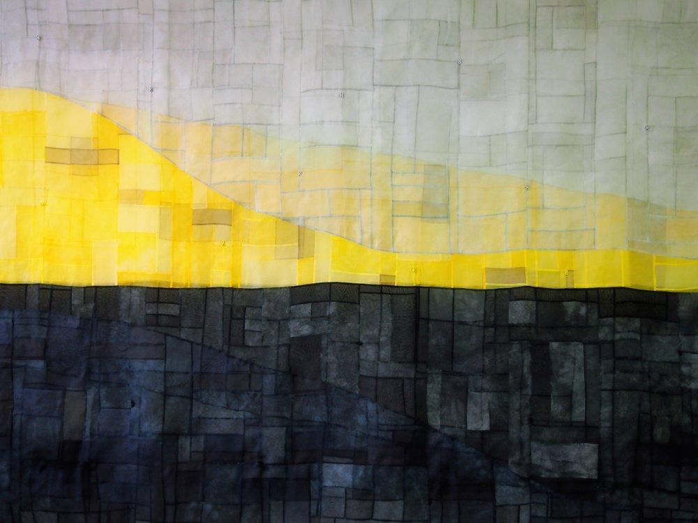 Grey Line  2017 180 x 120 cm