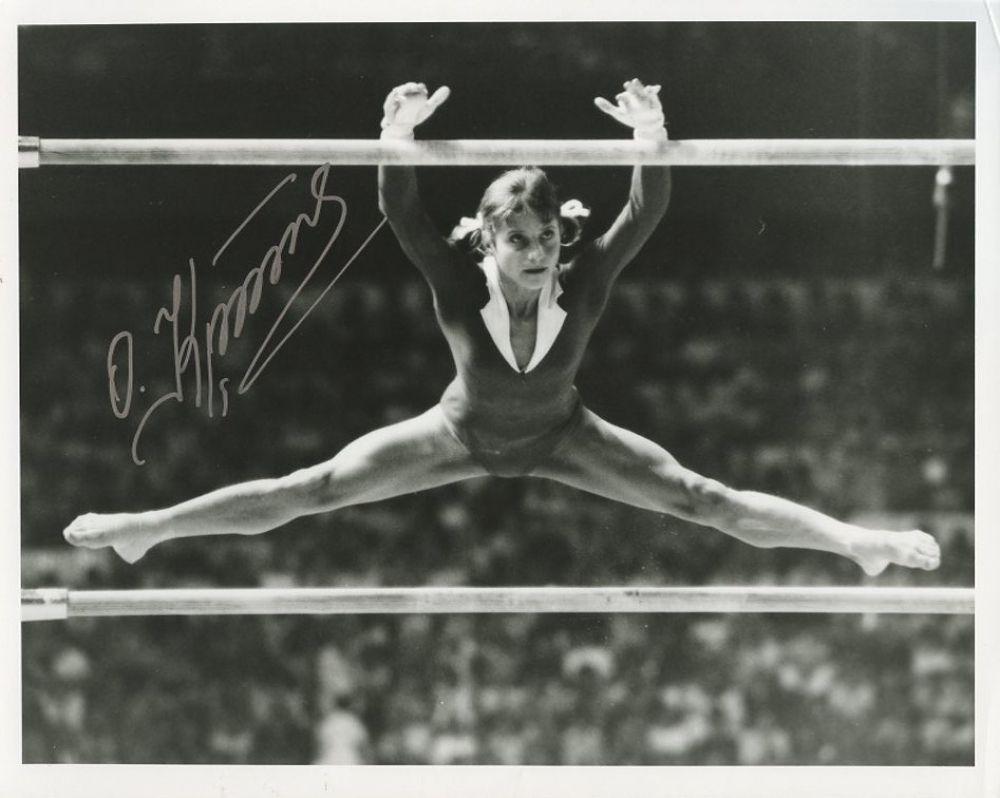 Olga Korbut in the 1972 Olympics