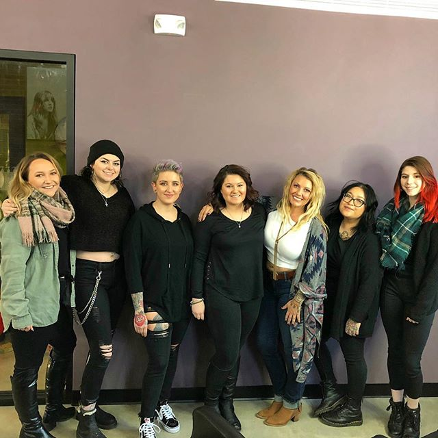 Lessons in vulnerability...sharing my journey and story with this group of six young women. I am honored for their listening, participation and study of our salon culture. I am thankful to be chosen as their mentor and leader. I am grateful for the opportunity to help them succeed in their professional and personal lives. Cheers to the next round of next level, Oomph Salon assistants. ❤️✨ #teamcometrue #empoweredwomenempowerwomen  #hustleandhart