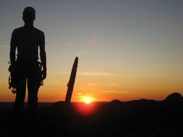 Devils Tower Summit at sundown
