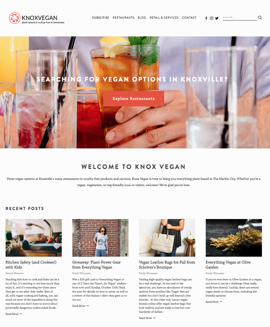 Knox Vegan Home Page