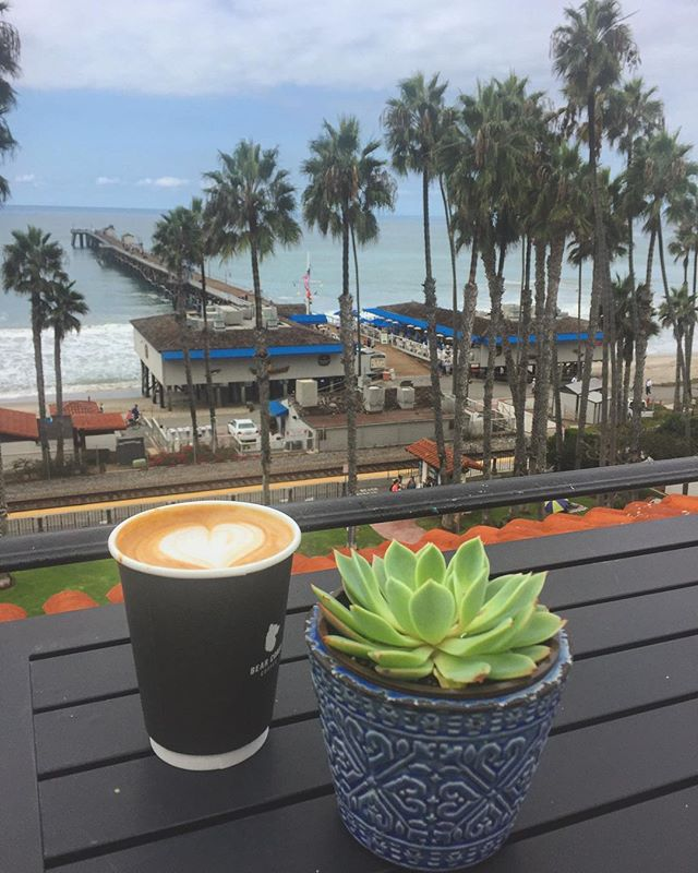 Coffee and salty ocean air to start the day off right. #sanclemente #sanclementepier #orangecounty #oc #southcounty #californiavibes #socality #socal #beach #whatwinter #bearcoast #coastalliving #casatropicana