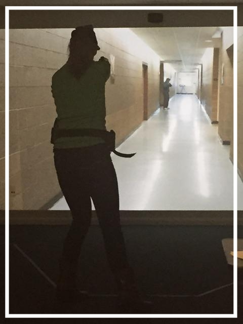 Townhall's Katie Pavlich takes out a gunman during an active shooter simulation