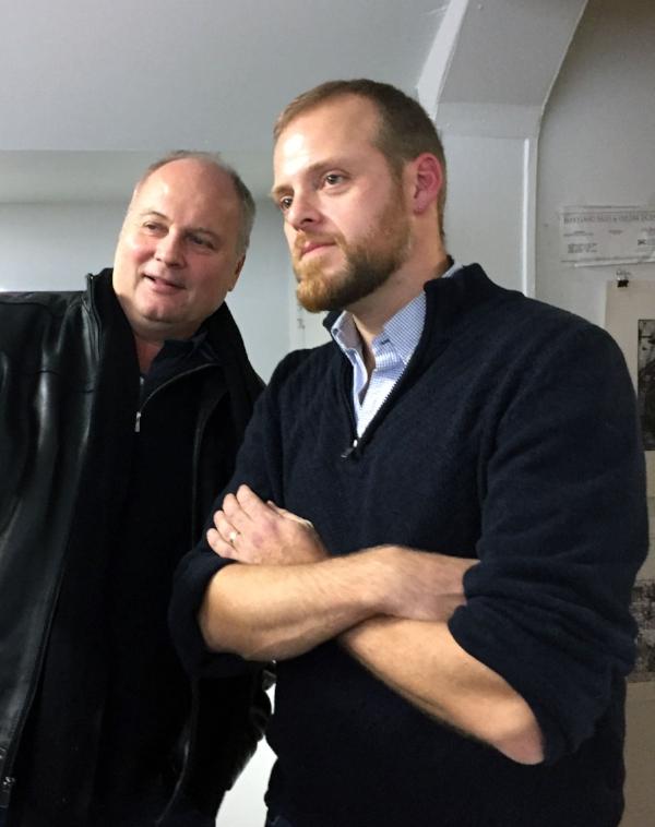 artist Greg Ferrand (right)