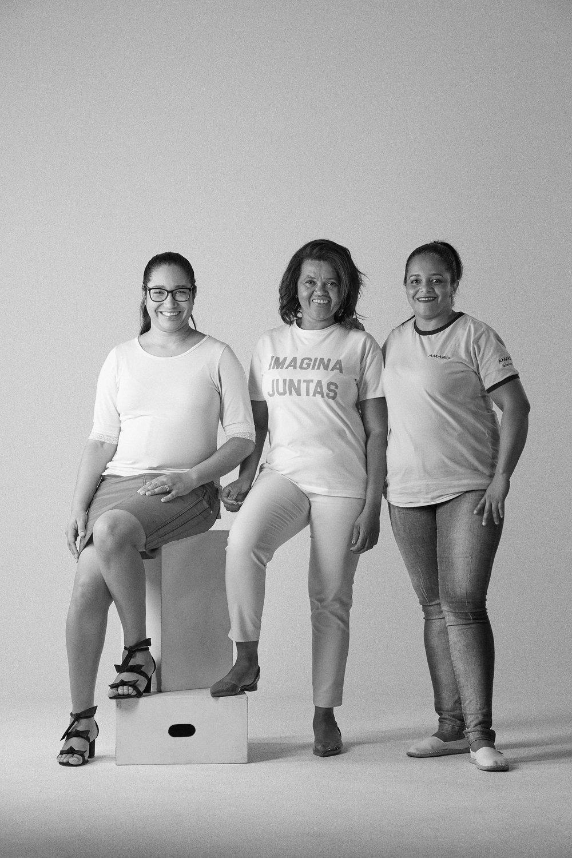 Na foto:Lizandra Costa, Carmélia Figueredo e Iracema Rodrigues.