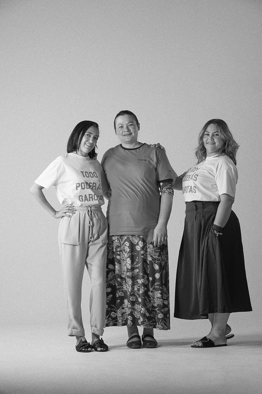 Na foto:Claudiene Rosa, Elisangela Correia, Viviane Martins