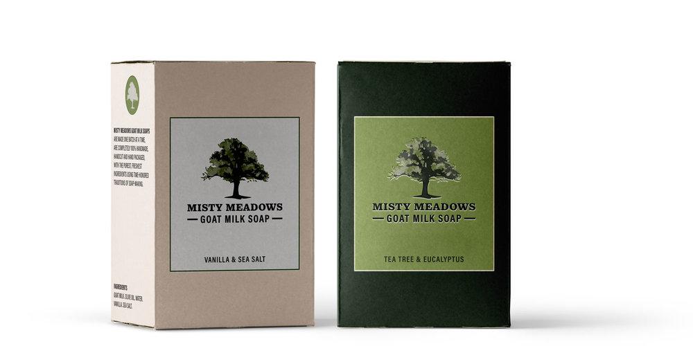 All-natural, handcrafted goat milk soap brand + packaging design by Susan Krajan Levitt | callmesue.com