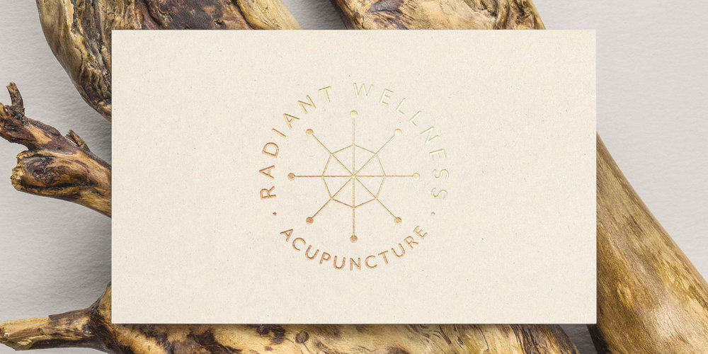 Minimal gold foil business card design by Susan Krajan Levitt   callmesue.com