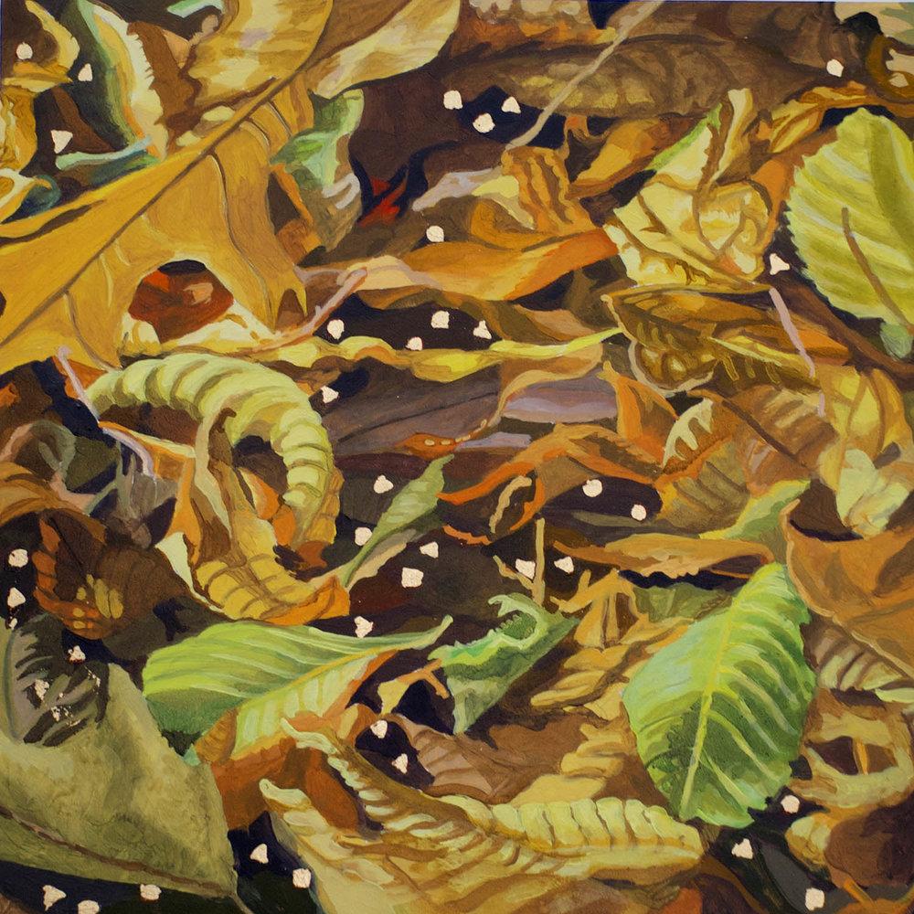 "Wave Hill Arbor Walk Series. September, 2016 Oil on panel 10"" x 10"""