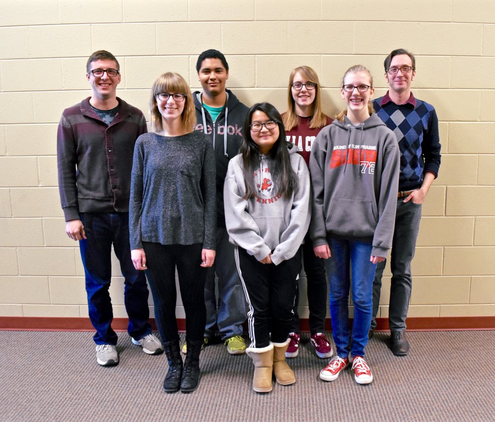 2017 Resonance Composers in Sun Prairie, WI:   Photo By Kayla Nelson - Left to Right:  Jon D. Nelson, Emma Johannson, Jonathan Gunderson, Antillica Xiong, Jenny Lamprech, Megan Rault, William C. Smith. (Not pictured: Andy Anderson and Jacob Couch)