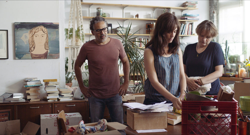 (left to right) John Ortiz, Maggie Siff and Cara Seymour in A Woman, A Part