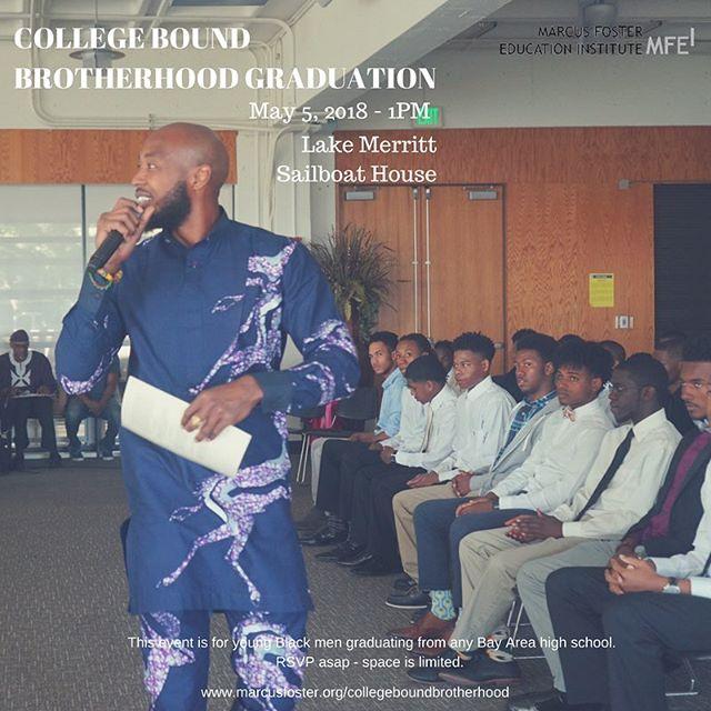 T-3 weeks til our 8th annual #CollegeBoundBrotherhood graduation. Link in bio to RSVP!