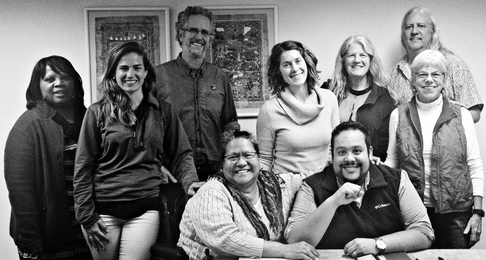 Steering Committee 2016-2017 ( LR Brenda Griffin, Eva Holt-Rusmore, Matt Nathanson, Ernestina Saldana, Allison Guevara, Ray Cancino, Gretchen Regenhardt, Jo Kenny. Not pictured Josh Brahinsky, Steve McKay)