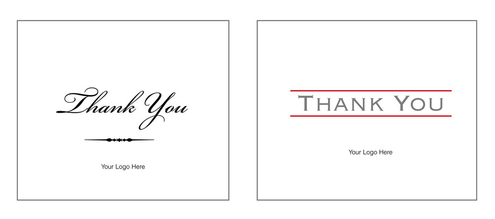 """Thank You"" Note Cards  personalized for business"