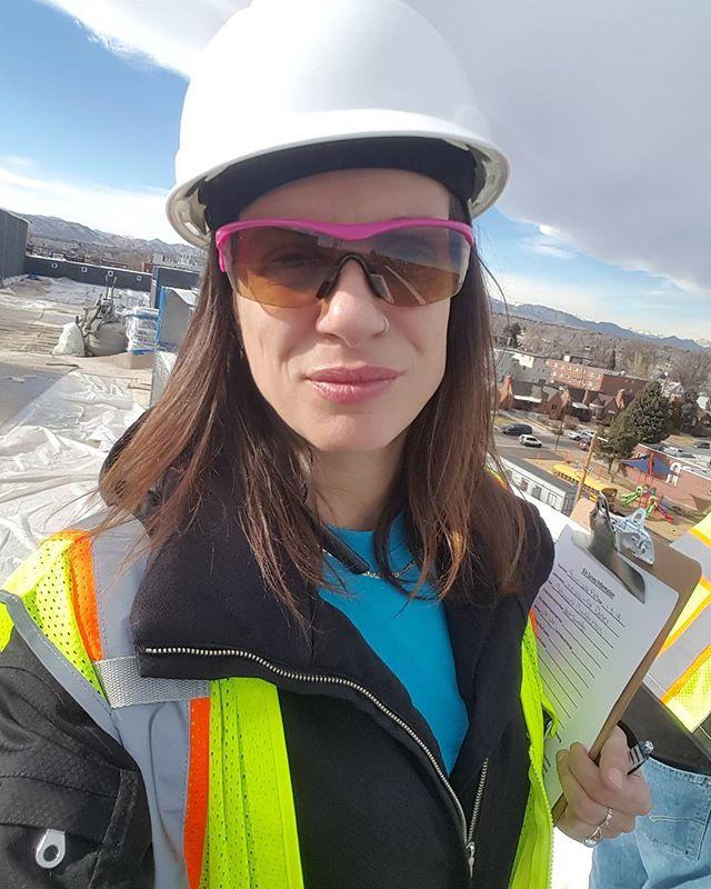 Rooftop Views. We see the best in Denver. #rooftop #das  #sitewalk #denver #construction #projectmanaginglikeaboss #goingup