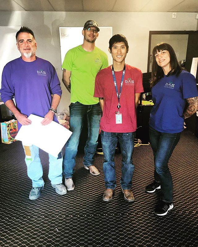 Photo op! #DAS #rainbow #integrators #teamcolors #safety #represent #managers #radiofrequency #DASi #team #happy @lisavigzz @dasintegrators